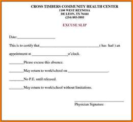 Free Doctor Note Template For Work formal excuse letter for missing work best photos of