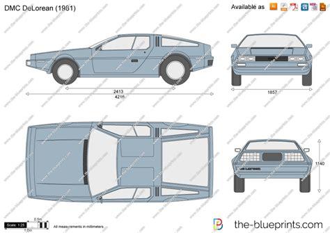 delorean blueprint the blueprints vector drawing dmc delorean