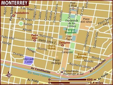 map of monterrey mexico map of monterrey
