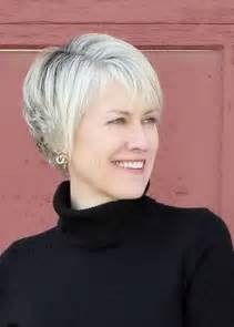 best hair do for 70year with square short hairstyles women over 50 side bangs and blonde color