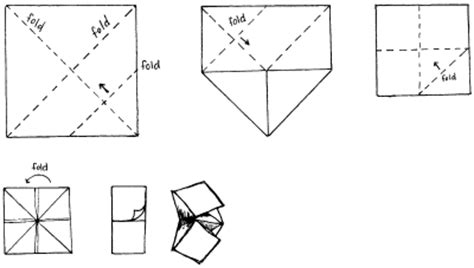 Folding Paper Fortune Teller - pin paper folding fortune tellers on