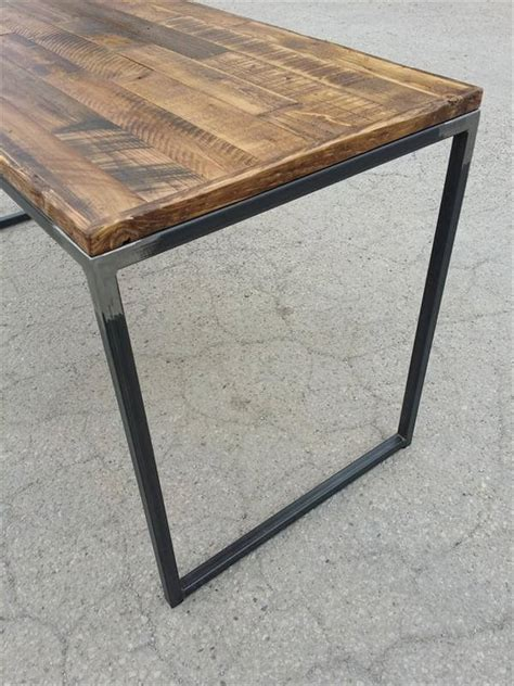 Diy Metal Desk Diy Pallet Desk With Flat Box Metal Legs Pallet Furniture Diy