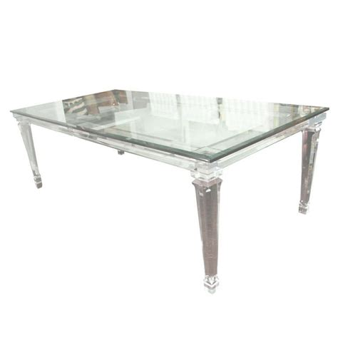 lucite dining room table lucite dining table with banded legs and glass top at 1stdibs