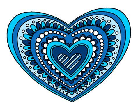 imagenes mandalas de corazones dibujo de mandala coraz 243 n pintado por candelasur en