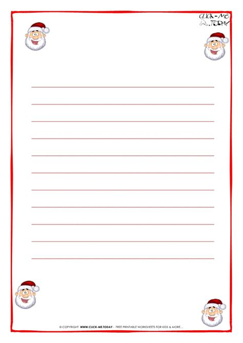 search results for blank santa letter template with lines