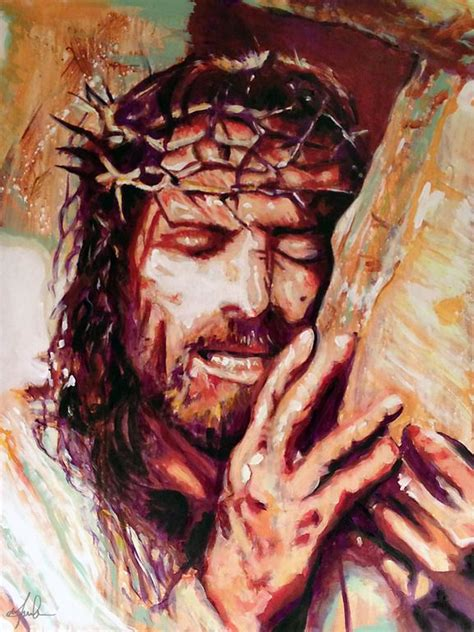 acrylic painting of jesus 54 best christian artwork images on jesus