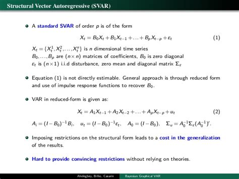 r tutorial vector autoregression bayesian graphical models for structural vector