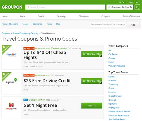 travel promotion codes save money on travel and more with groupon coupons jen