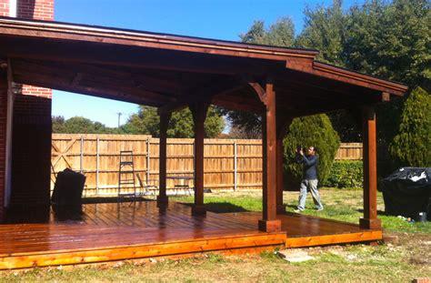 richardson patio cover  deck  gable  shingles