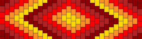pattern warm color random warm colors pony bead patterns simple kandi