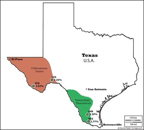 texas desert map lophophora geographic distribution of peyote lophophora diversity and biogeography of