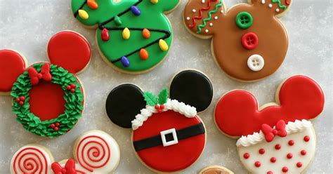 partiologist disney themed christmas cookies