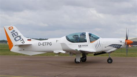 grob 120tp training aircraft ready for british military uk receives new generation g 120tp aircraft for pilot training
