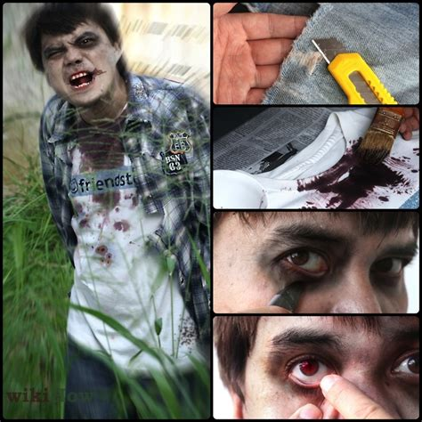 zombie yourself tutorial diy zombie costume hollows eve pinterest zombie