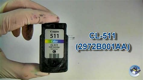 how to ink how to refill canon cl 511 colour ink cartridge
