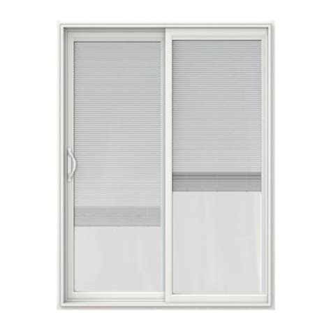 v 2500 series vinyl sliding patio door with blinds