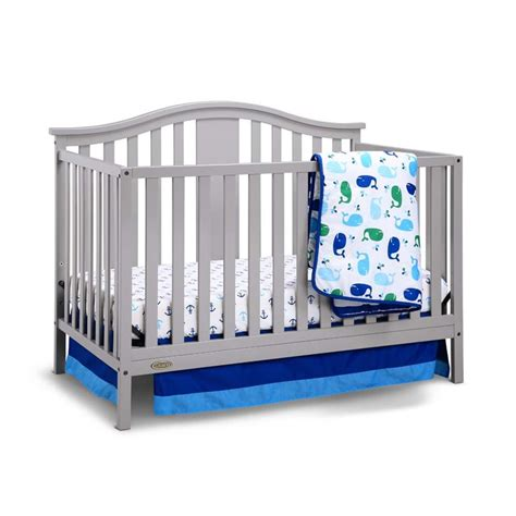 Graco Convertable Crib Graco Solano 4 In 1 Convertible Crib With Mattress In Pebble Gray 04526 51f