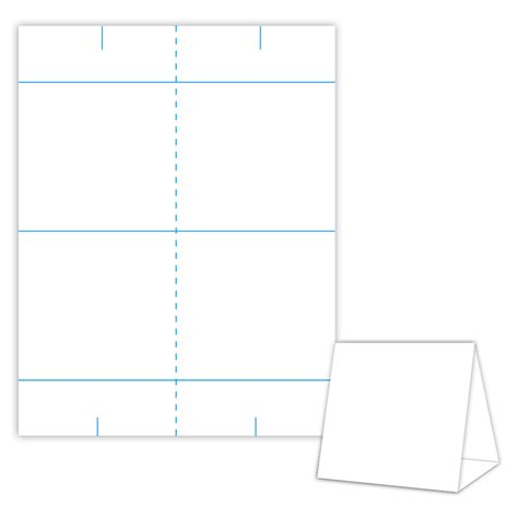Table Card Tent Template by Table Tent Design Template Blank Table Tent White