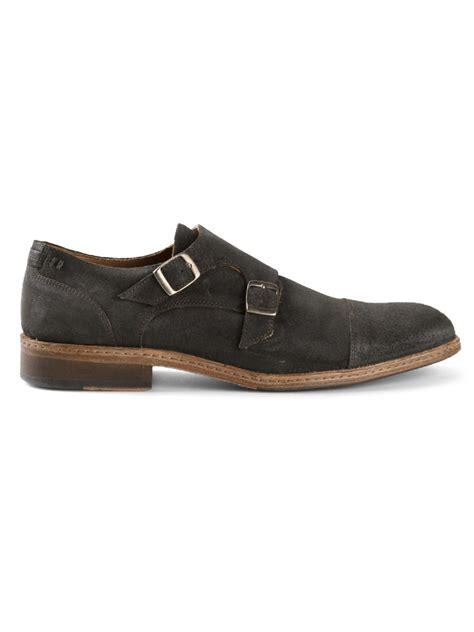 varvatos shoes varvatos monk shoes in gray for lyst