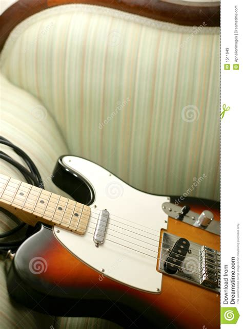 couch guitar guitar on couch stock photos image 1511643