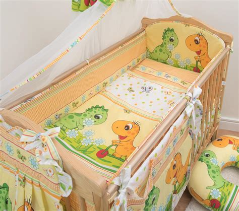 nursery cot bedding sets 3 nursery cot baby bedding set with all padded cot bed bumper ebay