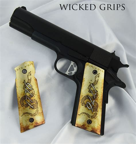 Handmade Gun Grips - 1911 pistol grips thin we the ver 3