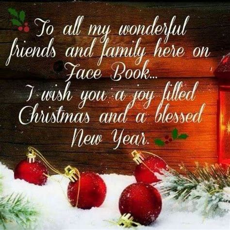 wonderful facebook friends merry christmas  happy  year pictures