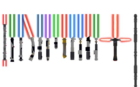 what does each lightsaber color wars to whom does each of these lightsabers belong