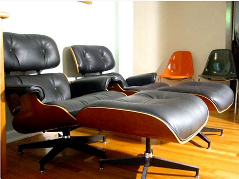 knock eames lounge chair the cottage cheese a pair of eames lounge chairs