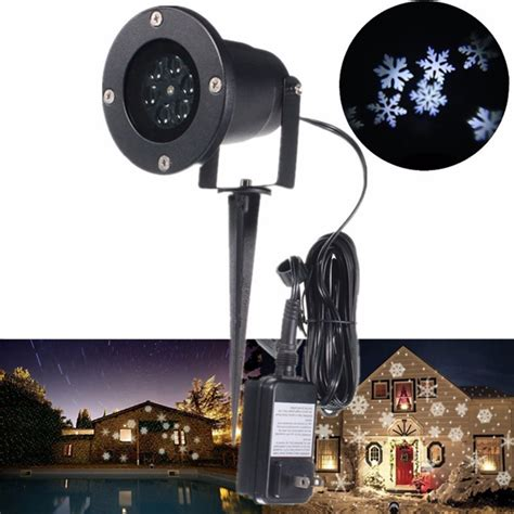 led snowflake landscape projector light outdoor garden