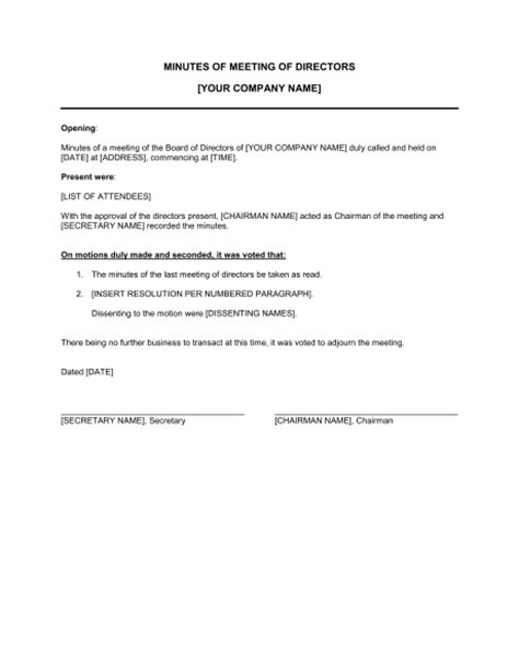 2 meeting minutes template doc assistant cover letter