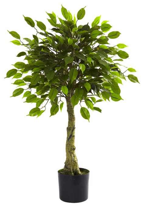 Nearly natural 3 ficus tree uv resistant indoor outdoor