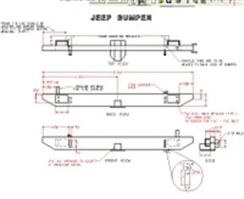 jeep bumper blueprints rear bumper plans jeep wrangler ideas