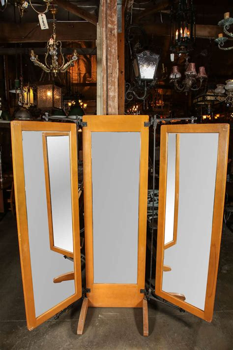fitting room mirrors antique trifold dressing room mirror at 1stdibs