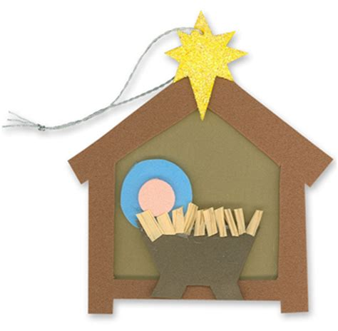 christmas sunday school craft nativity craft ornament jesus in the manger nativity ornaments crafts