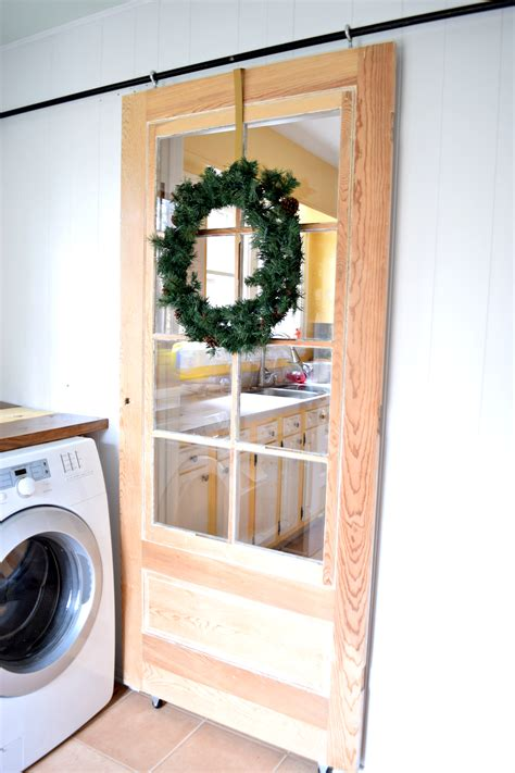 laundry room sliding doors diy sliding door