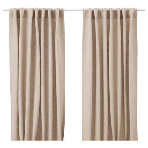 ikea cutains aina curtains 1 pair beige 145x250 cm ikea