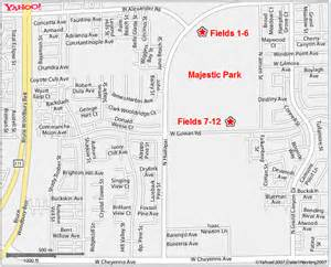 fields directions maps for las vegas area tournaments