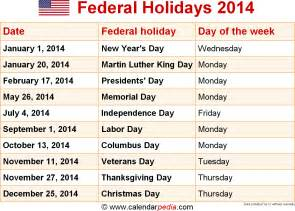 2014 calendar template with holidays 2016 federal holidays pdf calendar template 2016