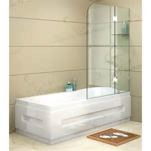 Bath Shower Panel Frameless Bath Panel Glass Shower Screen Zizo