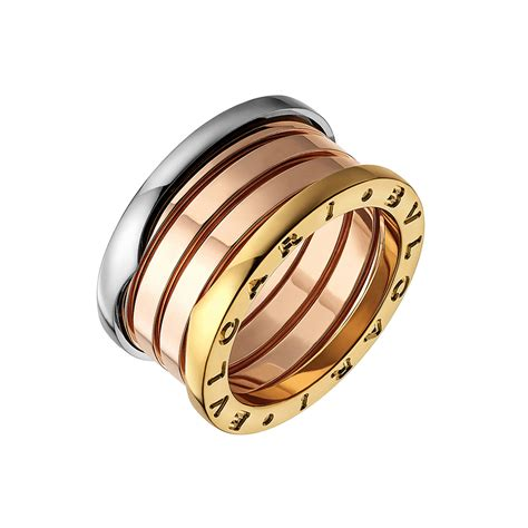 tri color ring bulgari 18k tri color gold quot b zero1 quot 4 band ring betteridge