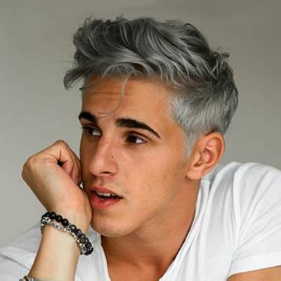 mens dyed hairstyles a guide to silver grey hair for the idle