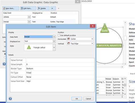 edit visio data graphics text callouts in visio 2013
