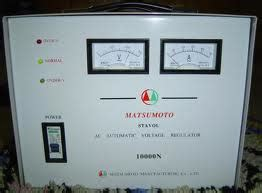 Stabilizer Matsumoto 3000n Murah jual stabilizer listrik dealer stabiliser oki agen stabilizer matsumoto 021 6230 3761 jual