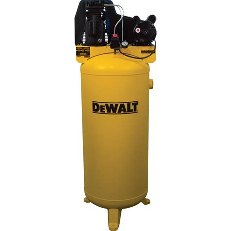 dewalt vertical air compressor 60 gallon cast iron lubricated belt drive 3 7 hp model