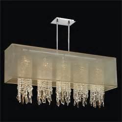 shade chandelier rectangular shade chandelier with omni 627m