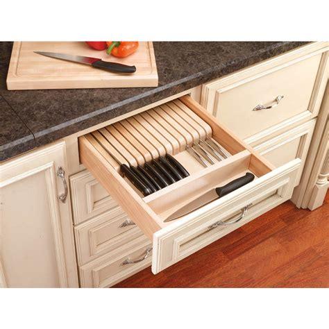 knife drawer insert wood shop rev a shelf 22 in x 18 5 in wood cutlery insert