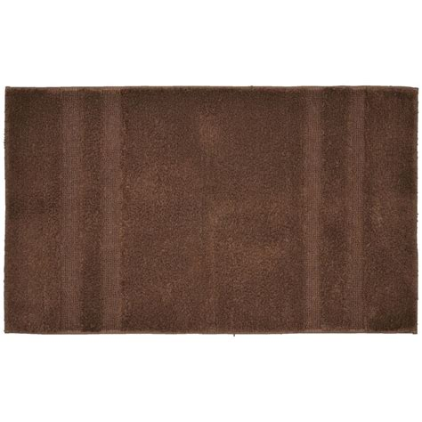 Home Depot Bathroom Rugs Garland Rug Majesty Cotton Chocolate 24 In X 40 In Washable Bathroom Accent Rug Pri 2440 14