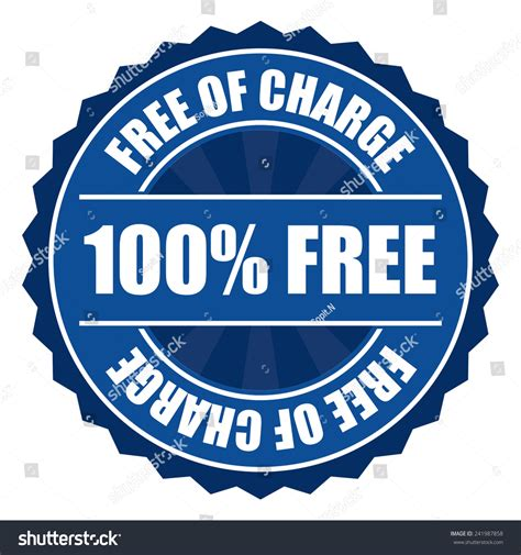 Search For Free Of Charge Blue 100 Free Of Charge Icon Tag Label Badge Sign Sticker Isolated On White