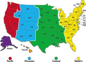 map of united states showing time zones time zones why do we them by onlineclock